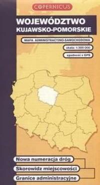 Województwo kujawsko-pomorskie. Mapa administracyjno-samochodowa (skala 1:300 000) - okładka książki