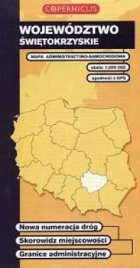 Województwo świętokrzyskie (1:300 000) - okładka książki