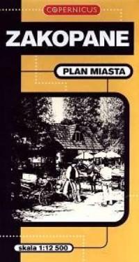 Zakopane. Plan miasta (skala 1:12 500) - okładka książki