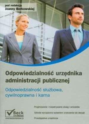 Odpowiedzialność urzędnika administracji - okładka książki