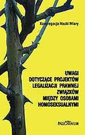 Uwagi dotyczące projektów legalizacji - okładka książki