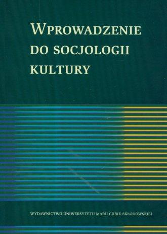 Wprowadzenie do socjologii kultury - okładka książki