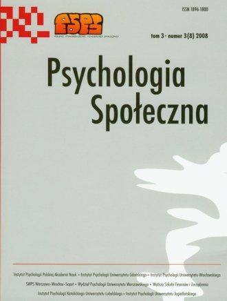 Psychologia Spo�eczna nr 3(8)/2008. Tom 3