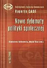 Nowe dylematy polityki społecznej - okładka książki