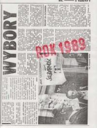 Rok 1989 - okładka książki
