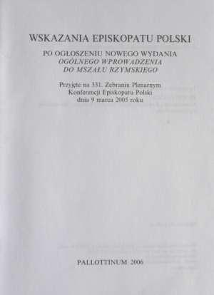 Wskazania Episkopatu Polski do - okładka książki