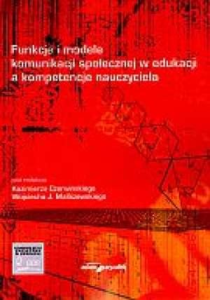 Funkcje i modele komunikacji społecznej - okładka książki