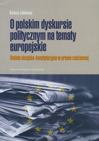 O polskim dyskursie na tematy europejskie - okładka książki