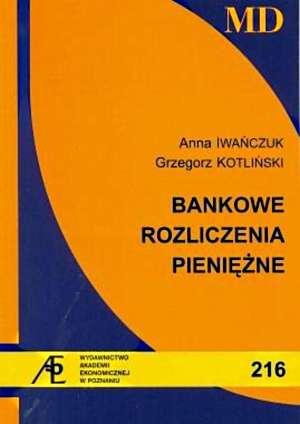 Bankowe rozliczenia pieniężne - okładka książki