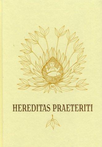 Hereditas praeteriti - okładka książki