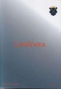 Lingvaria nr 1 (7) 2009 - okładka książki