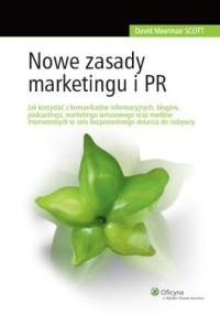 Nowe zasady marketingu i PR - okładka książki