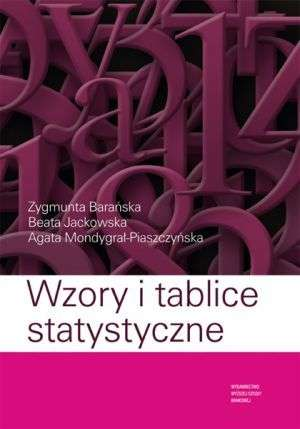Wzory i tablice statystyczne - okładka książki