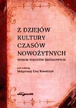 Z dziejów kultury czasów nowożytnych - okładka książki