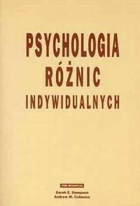 Psychologia różnic indywidualnych - okładka książki