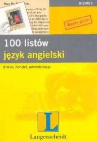 100 listów. Język angielski - okładka podręcznika