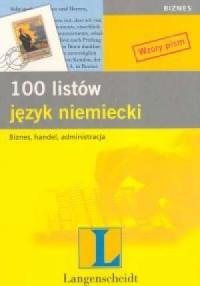 100 listów. Język niemiecki - okładka podręcznika