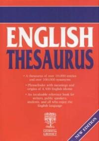 English thesaurus - okładka książki