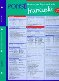 Francuski. Gramatyka błyskawicznie - okładka podręcznika