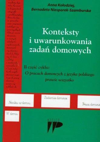 Konteksty i uwarunkowania zadań - okładka książki