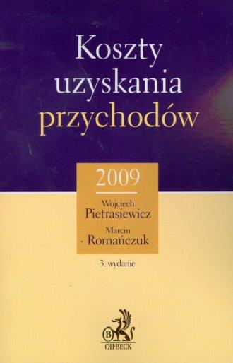 Koszty uzyskania przychodów 2009 - okładka książki