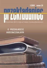 Przekładaniec nr 20. O przekładzie audiowizualnym - okładka książki