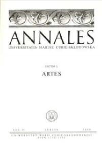 Annales UMCS, sec. L (Artes), vol. VI - okładka książki