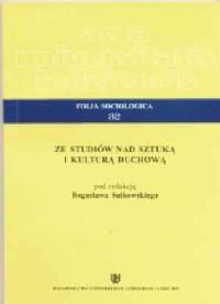 Folia Sociologica 32. Ze studiów nad sztuką i kulturą duchową - okładka książki
