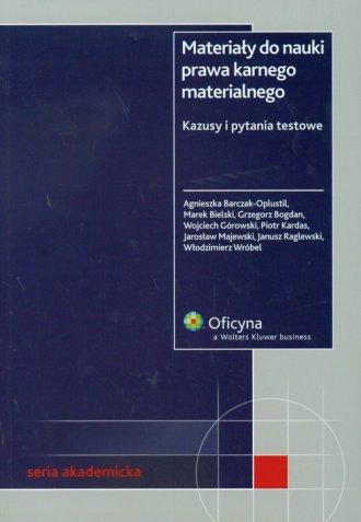Materiały do nauki prawa karnego - okładka książki