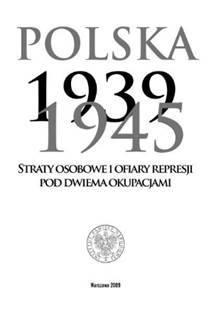 Polska 1939-1945. Straty osobowe - okładka książki