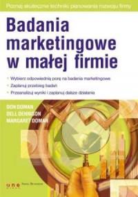 Badania marketingowe w małej firmie - okładka książki