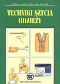Techniki szycia odzieży - okładka podręcznika
