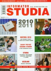 Informator dla kandydatów na studia 2010/2011 - okładka podręcznika
