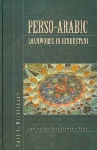 Perso-Arabic Loanwords in Hindustani. - okładka książki