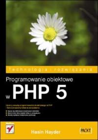 Programowanie obiektowe w PHP 5 - okładka książki