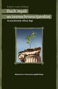 Duch myśli wczesnochrześcijańskiej - okładka książki