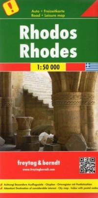 Rhodos (plan miasta 1: 50 000) - okładka książki