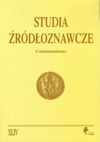 Studia Źródłoznawcze. Tom XLIV - okładka książki