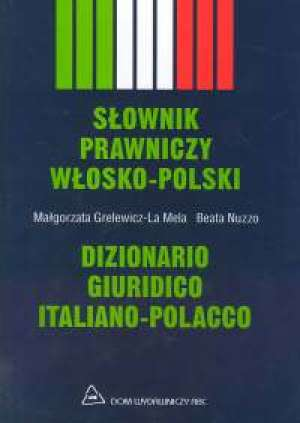 Słownik prawniczy włosko-polski - okładka książki