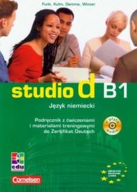 Studio d. Język niemiecki. Podręcznik z ćwiczeniami i materiałami treningowymi do Zertifikat Deutsch (+ CD) - okładka podręcznika