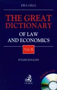 The great dictionary of law and economic vol. 2 (+ CD) - okładka książki