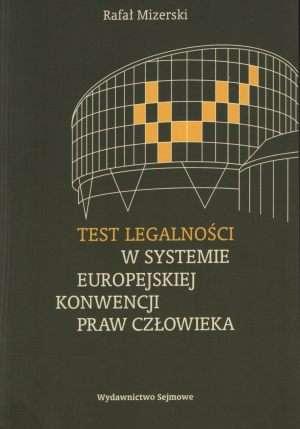 Test legalności w systemie Europejskiej - okładka książki
