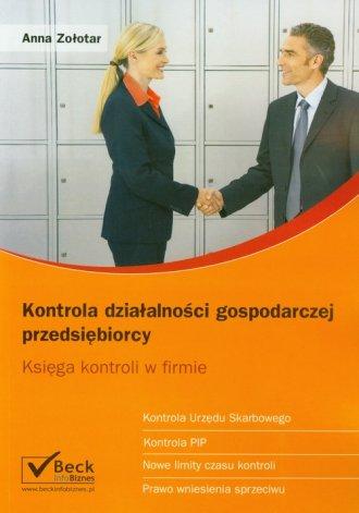 Kontrola działalności gospodarczej - okładka książki