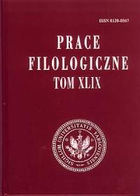 Prace filologiczne. Tom XLIX - okładka książki