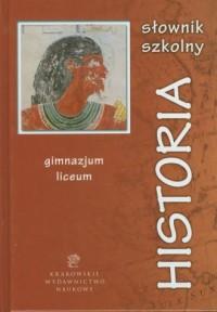 Słownik szkolny. Historia - okładka książki