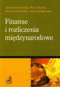 Finanse i rozliczenia międzynarodowe - okładka książki