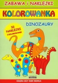 Kolorowanka Dinozaury - Wydawnictwo - okładka książki