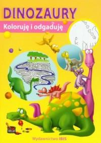 Koloruję i odgaduję. Dinozaury - okładka książki