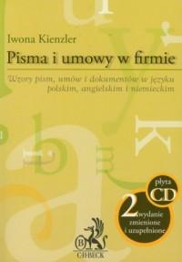 Pisma i umowy w firmie (+ CD) - - okładka książki