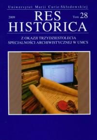 Res Historica. Tom 28 (2009) - okładka książki